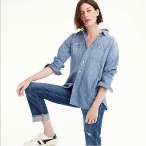 J. Crew Relaxed Chambray Boy Shirt